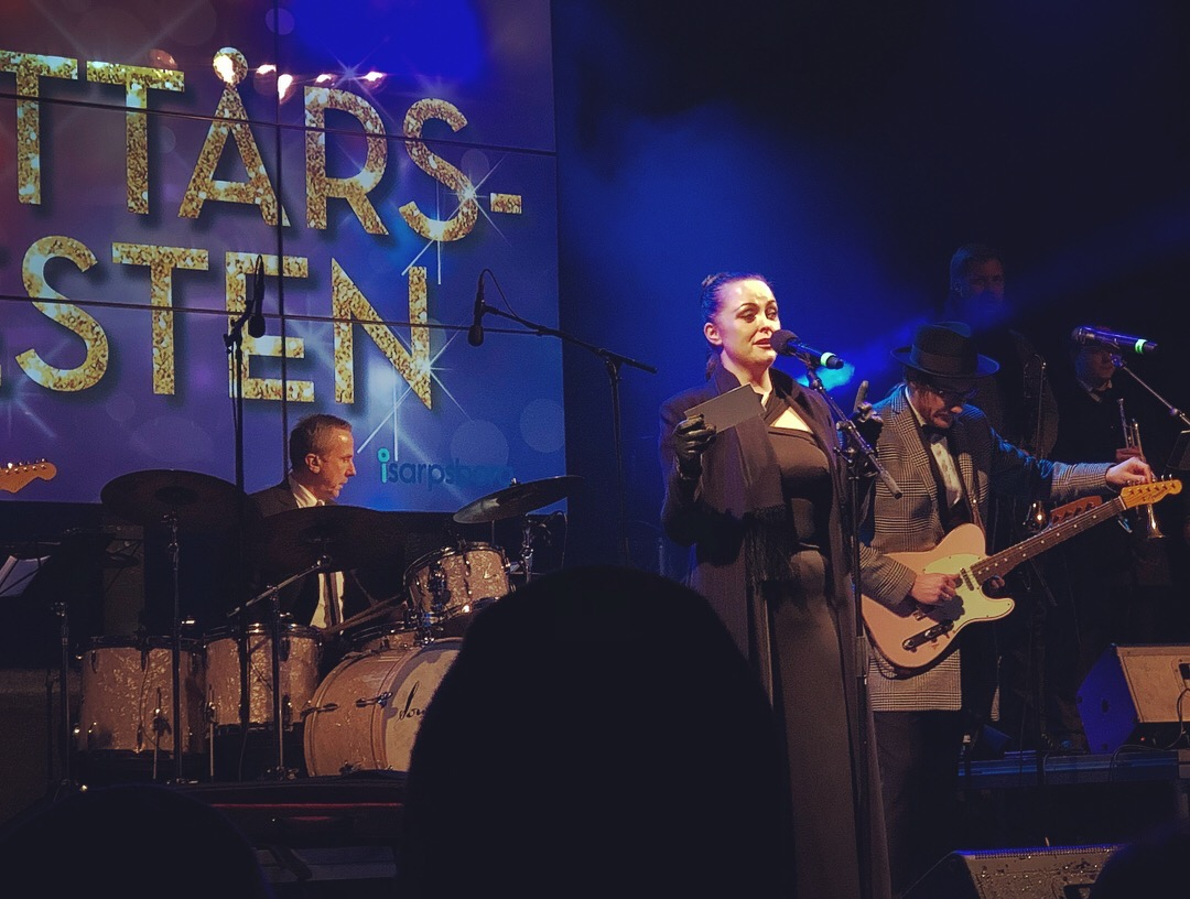 Ann Christin Elverum under nyttårsfesten 2017. Foto.