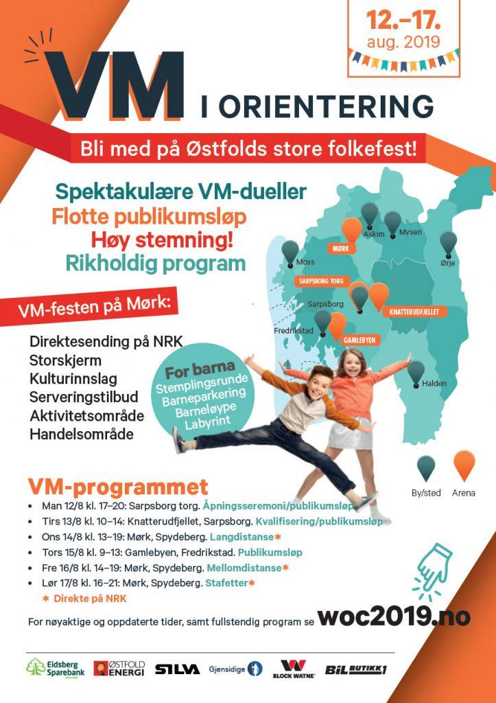 Program for VM i orientering 2019